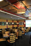 Inviting dining room of well-known Ambrosia Diner, Queensbury,New York,2015 Stock Image