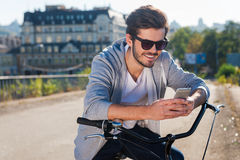 Inviting friend for a ride. Royalty Free Stock Photos