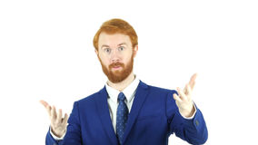 Inviting Gesture by Red Hair Beard Businessman,. High quality Stock Images