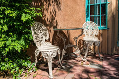 Inviting outdoor seating Royalty Free Stock Image