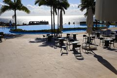 Swimming pool in Garden in Funchal on the island of Madeira Portugal Royalty Free Stock Photos