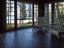 Inviting porch with a view Stock Photos