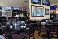 Inviting scene,West Side Stadium Cafe, Saratoga Springs, 2015 Royalty Free Stock Images