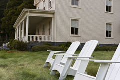 Inviting setting at historic Fort Baker Stock Images