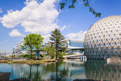 Free Inviting View Of Toronto Ontario Place Park Grounds With Stylish Cinesphere Standing In Water Stock Image - 98328681