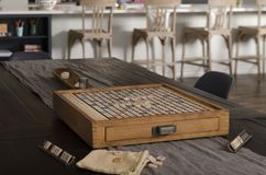 Inviting vintage game board for game time royalty free stock images
