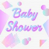 Invito al neon della doccia di bambino Fotografie Stock