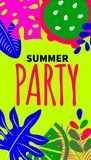 Invito al partito di estate Immagini Stock Libere da Diritti