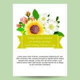 Invito astratto di eleganza con fondo floreale immagini stock libere da diritti