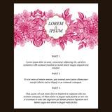 Invito astratto di eleganza con fondo floreale immagini stock
