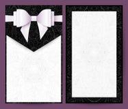 Invito in bianco e nero elegante di nozze di vettore Immagini Stock Libere da Diritti
