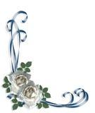 Invito bianco Wedding delle rose Fotografie Stock Libere da Diritti