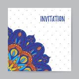 Invito con Mandala5 multicolore Fotografia Stock