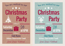 Invito d'annata della festa di Natale Fotografie Stock Libere da Diritti