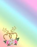 Invito del biglietto di S. Valentino o di cerimonia nuziale Immagine Stock Libera da Diritti