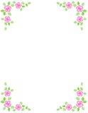 Invito del bordo/cerimonia nuziale della Rosa royalty illustrazione gratis