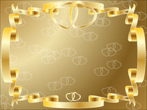 Invito del bordo di anniversario di cerimonia nuziale illustrazione di stock
