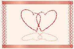 Invito del cuore Immagine Stock