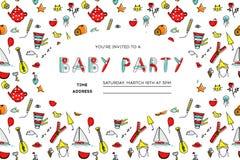 Invito del partito dei bambini royalty illustrazione gratis