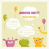 Invito del partito del mostro Immagine Stock