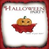 Invito del partito di Halloween Fotografie Stock Libere da Diritti