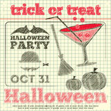 Invito del partito di Halloween Immagine Stock