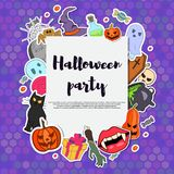 Invito del partito di Halloween di vettore Immagini Stock Libere da Diritti