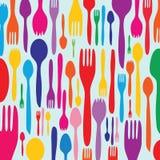 Invito del pranzo con la siluetta dell'utensile illustrazione vettoriale