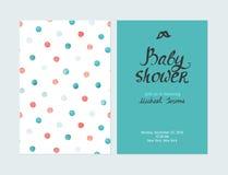 Invito del ragazzo della doccia di bambino, modello di vettore Fotografia Stock Libera da Diritti
