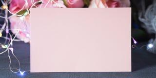 Invito della cartolina d'auguri di giorno del ` s del biglietto di S. Valentino Immagini Stock Libere da Diritti
