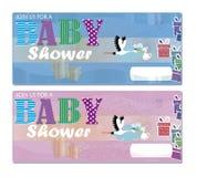 Invito della doccia di bambino Immagine Stock Libera da Diritti