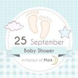 Invito della doccia di bambino Fotografia Stock