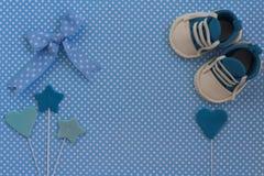 Invito della doccia di bambino Fondo neonato Fotografia Stock