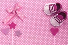 Invito della doccia di bambino Fondo neonato Fotografia Stock Libera da Diritti