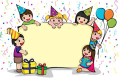 Invito della festa di compleanno illustrazione di stock