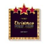 Invito della festa di Natale di vettore Fotografie Stock
