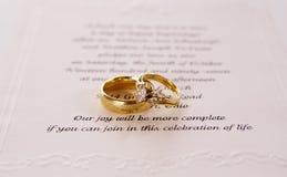 Invito di cerimonia nuziale fotografie stock libere da diritti