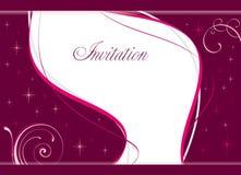 Invito di cerimonia nuziale Immagini Stock Libere da Diritti