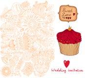 Invito di cerimonia nuziale. Reticolo di fiore Fotografia Stock