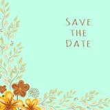 Invito di cerimonia nuziale Salvo la data Illustrazione di Stock