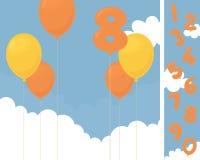 Invito di compleanno Fotografia Stock
