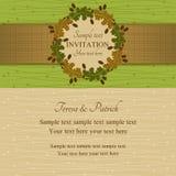 Invito di estate o di autunno, verde e beige Fotografia Stock