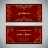 Invito di lusso di nozze Fotografia Stock