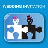 Invito di nozze Fotografia Stock