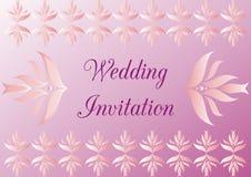 Invito di nozze Immagine Stock