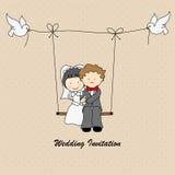 Invito di nozze Fotografie Stock Libere da Diritti