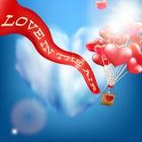 Invito di nozze con il pallone ENV 10 royalty illustrazione gratis