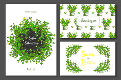 Invito di nozze di verde giallo Royalty Illustrazione gratis