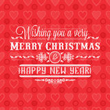Invito di nuovo anno Decorazione variopinta di festa iscrizione Immagini Stock