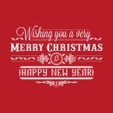 Invito di nuovo anno Decorazione variopinta di festa iscrizione Fotografie Stock Libere da Diritti